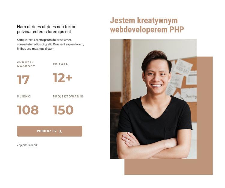 Programista PHP Szablon witryny sieci Web