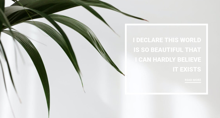 Houseplants HTML Template