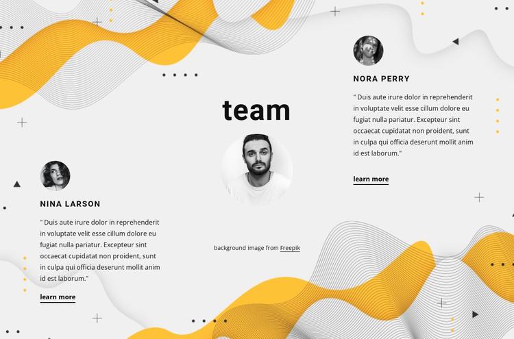 Three partners HTML Template