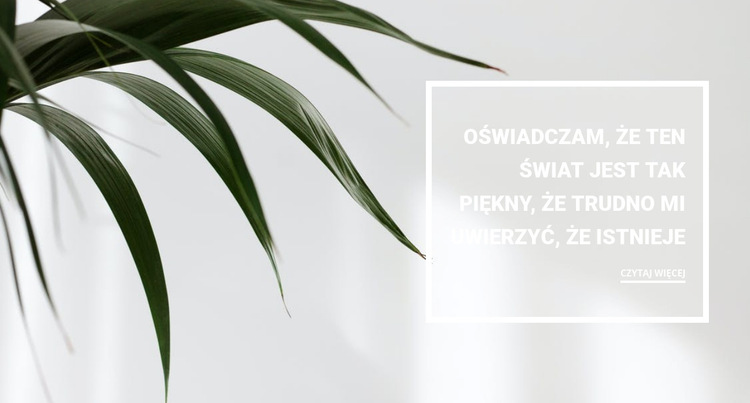 Rośliny doniczkowe Szablon witryny sieci Web