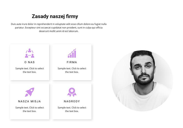 Analityka i wyniki Szablon witryny sieci Web