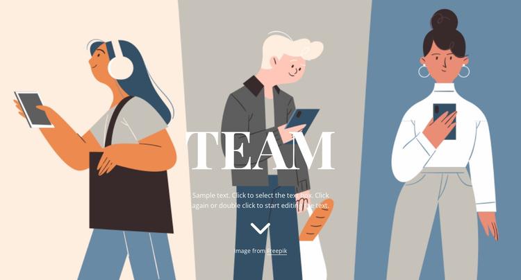 Team illustration Website Template