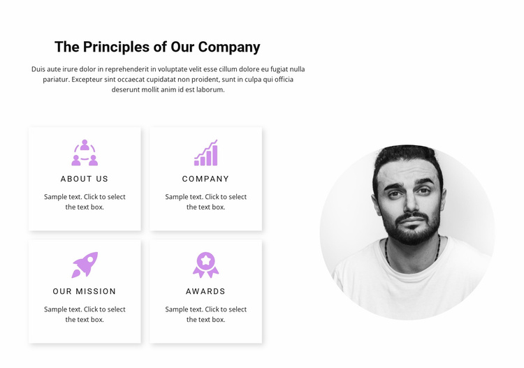 Analytics and results Website Template