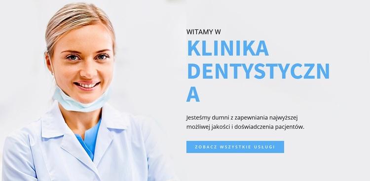Klinika dentystyczna Szablon witryny sieci Web