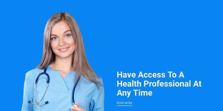 Qualified doctors Website Template