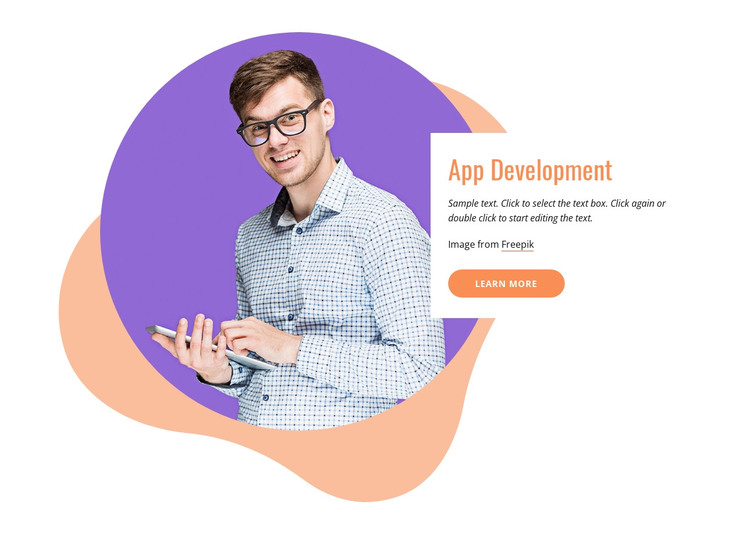 App development company HTML Template