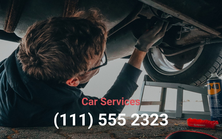 Car services phone HTML Template
