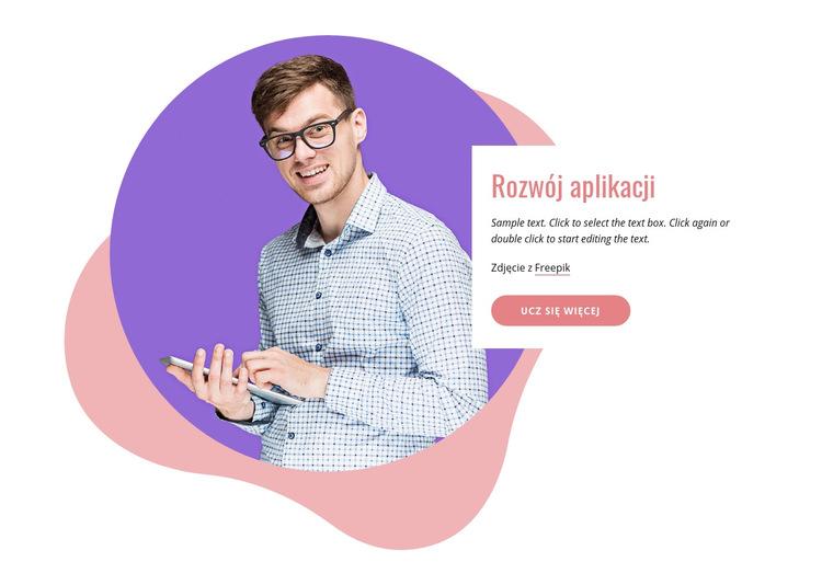 Firma zajmująca się tworzeniem aplikacji Szablon witryny sieci Web