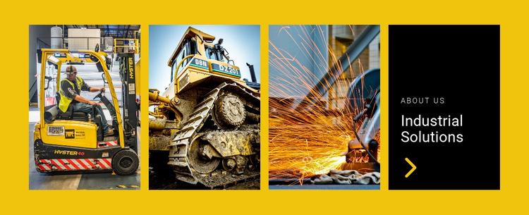 Industrial solutions Website Builder