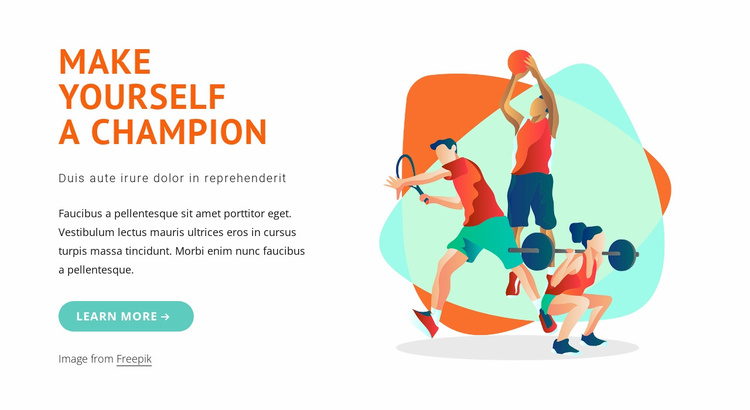 Make yourself a champion Website Template