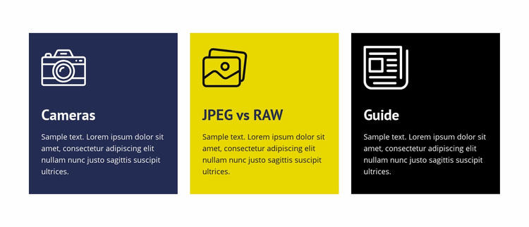 Photography editing guide Website Design