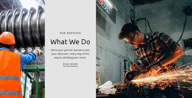 Subtleties of production Website Template