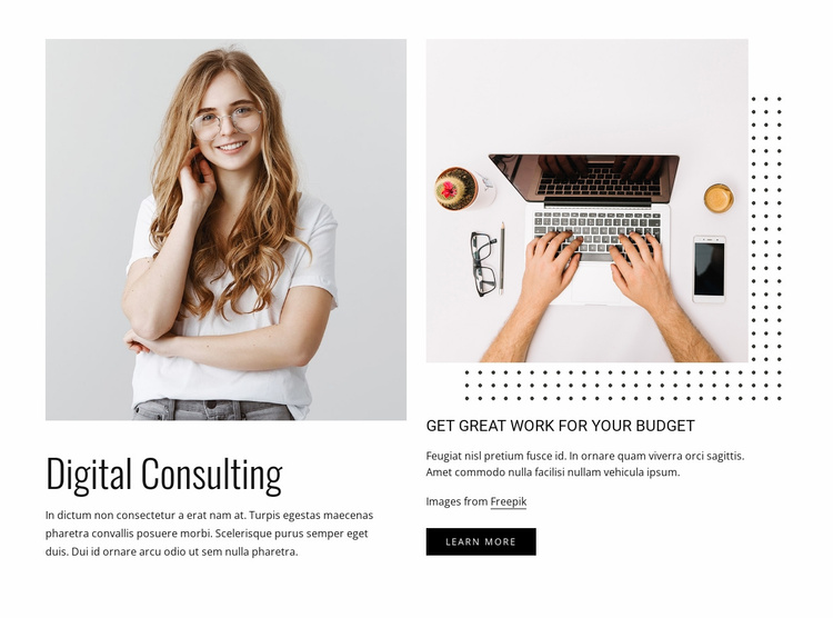 Your thought partner in decisions Website Template