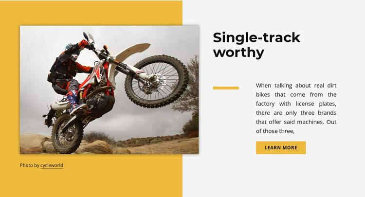 Single track worthy Website Template