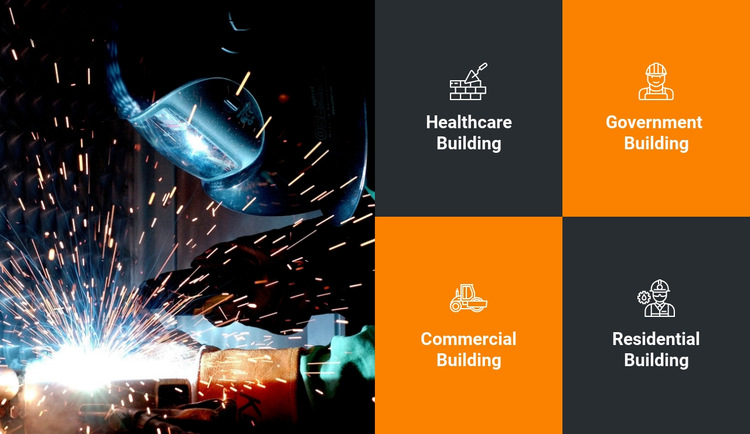 Building and construction features HTML5 Template