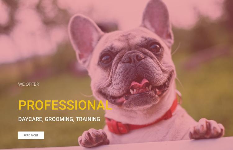 Professional dog training school  Website Template