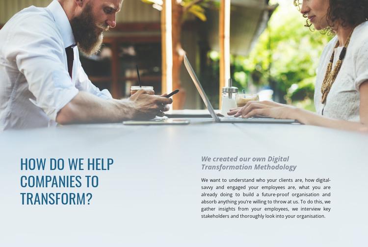Help companies to transform HTML Template