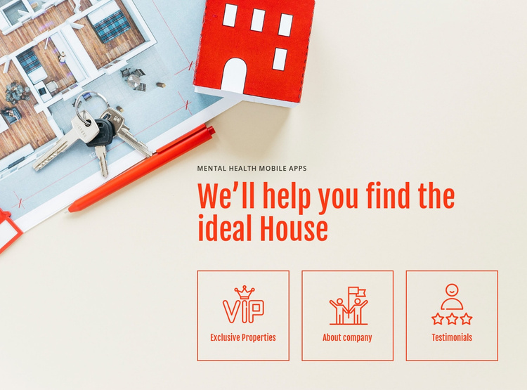 Leading real estate company Landing Page