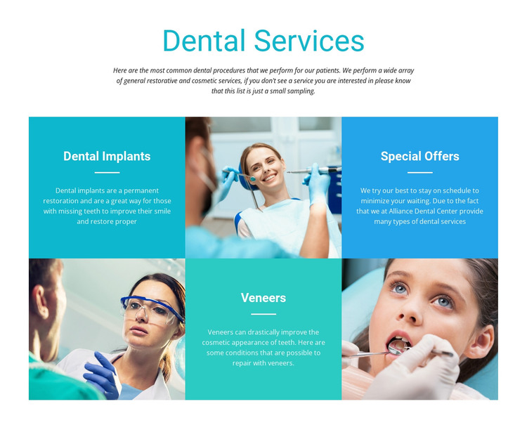 Dental Services HTML Template
