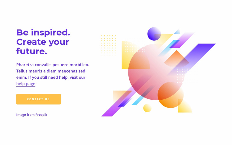 Create your future Website Template