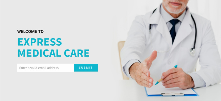 Medical newsletters by email Website Template