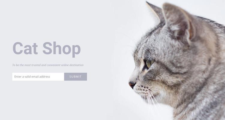 Cat shop HTML Template