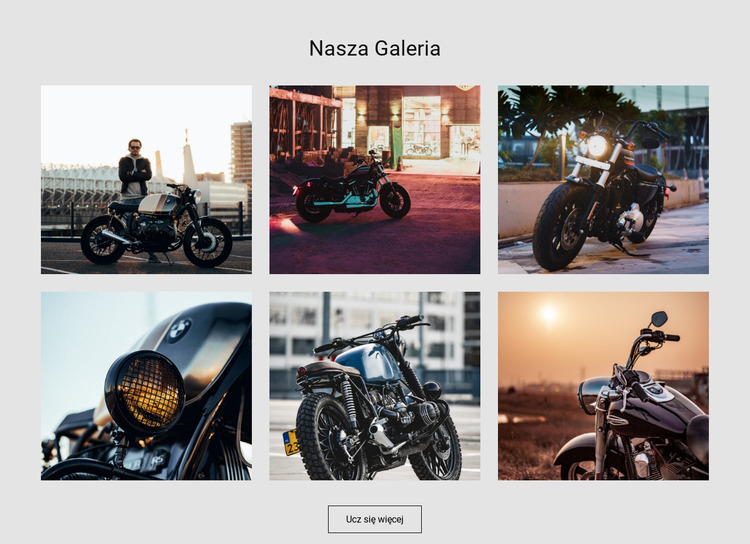 Kolekcja motocykli sportowych Szablon Joomla
