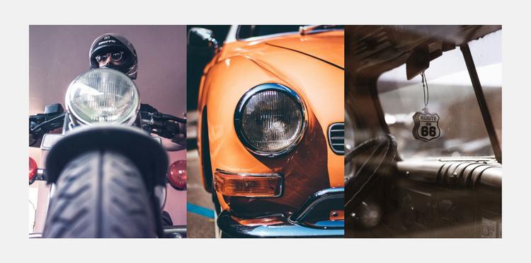 Restoration of old cars Website Template
