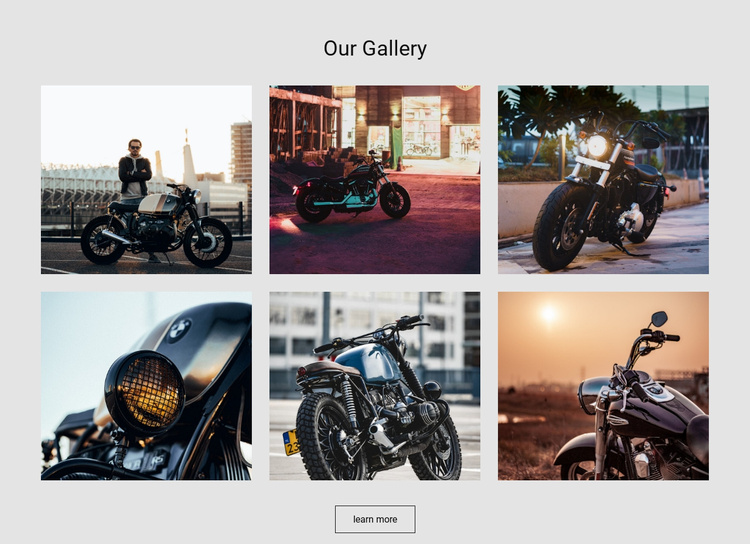 Sports Motorcycle Collection Landing Page