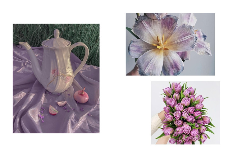 Gallery with flowers HTML Template