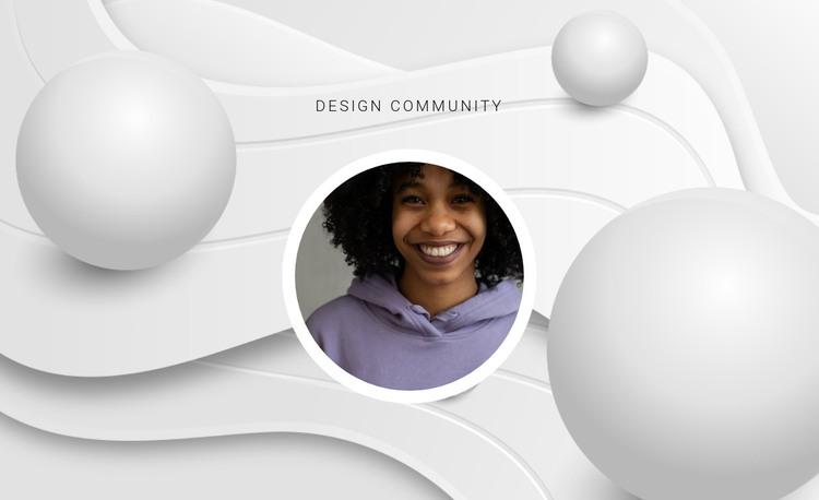 Design community HTML Template