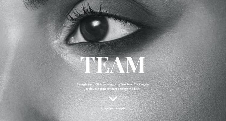 Team HTML Template