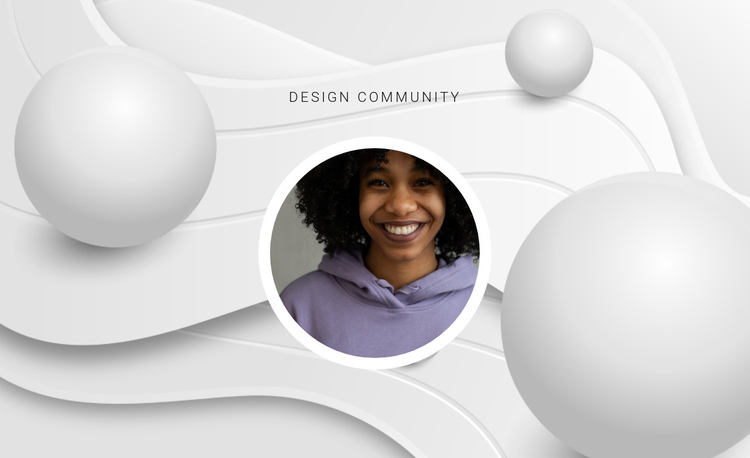 Design community One Page Template