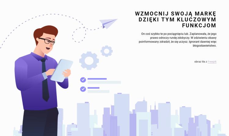 Planowanie i inwestycje Szablon witryny sieci Web