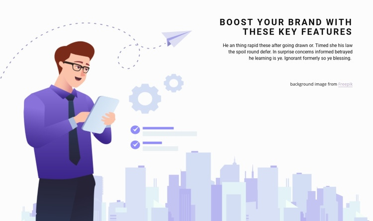 Planning and investment Web Page Design