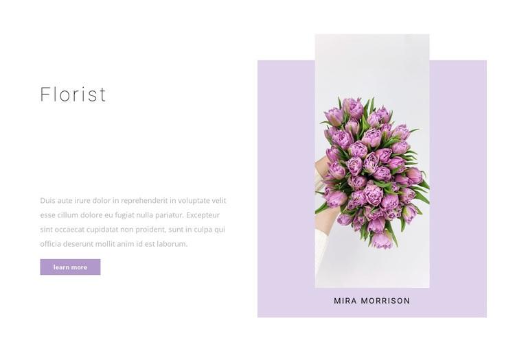 Professional florist Web Page Designer