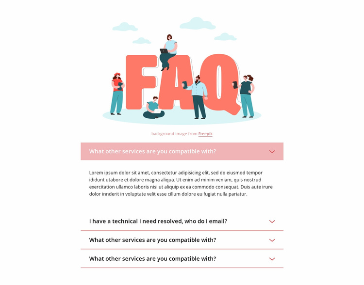 Questions and quick answers Website Template