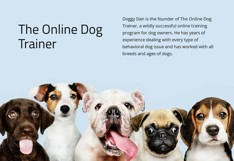 Online dog trainer  HTML Template
