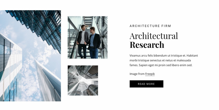 Architectural research Website Template