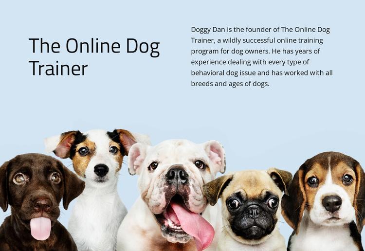 Online dog trainer  Website Template