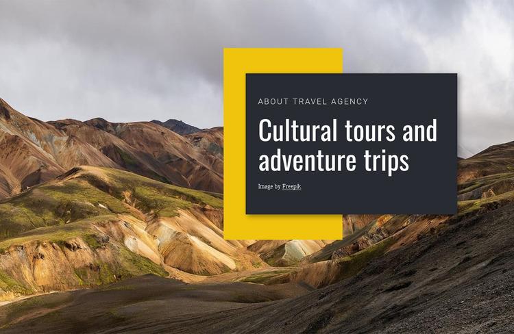 Cultural tours Website Mockup
