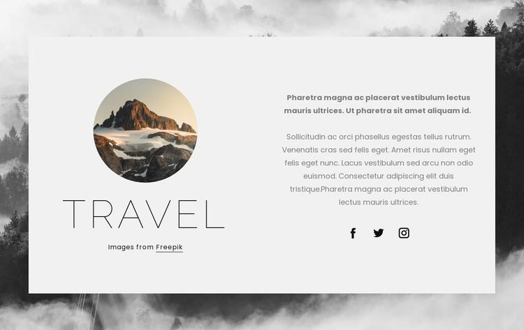 Adventure tours Website Template