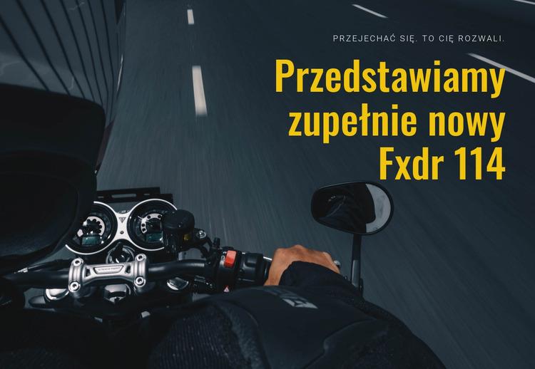 Nowoczesny motocykl Szablon Joomla