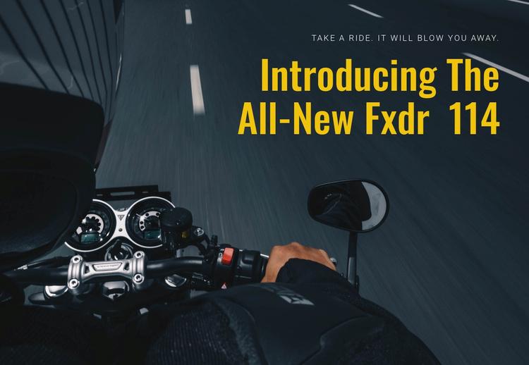 Modern motocycling Landing Page