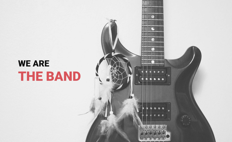 We are the band  Web Page Designer