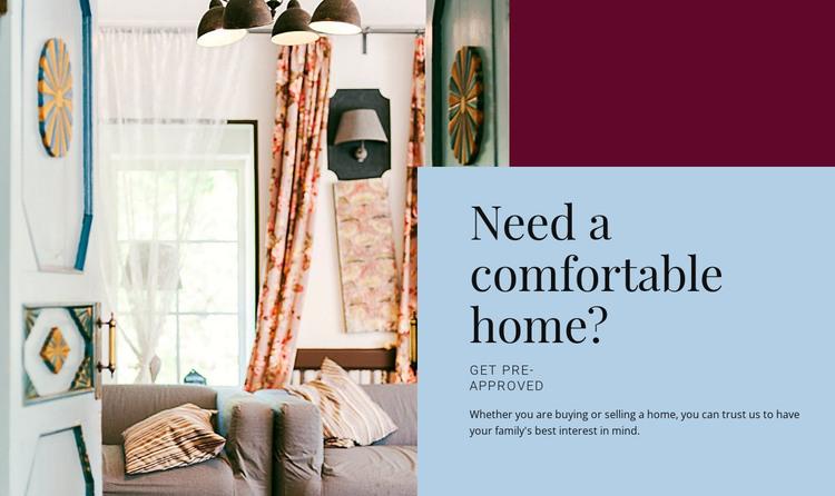 Comfortable home HTML Template