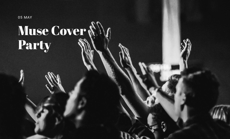Muse cover party  WordPress Website Builder