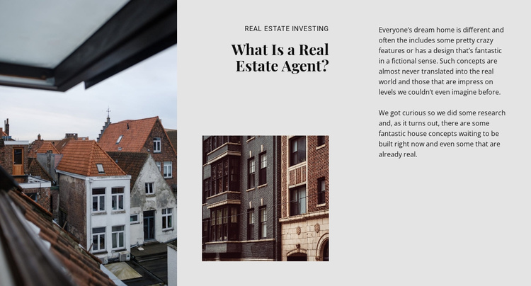 Luxury real estate firm Website Template