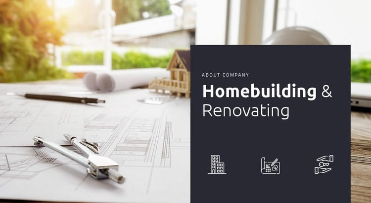 Homebuilding and renovationg CSS Template