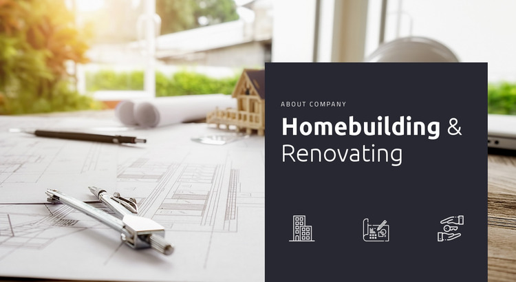 Homebuilding and renovationg HTML Template